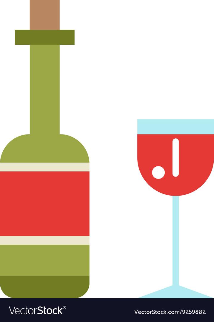Wine icon set flat style isolated on white