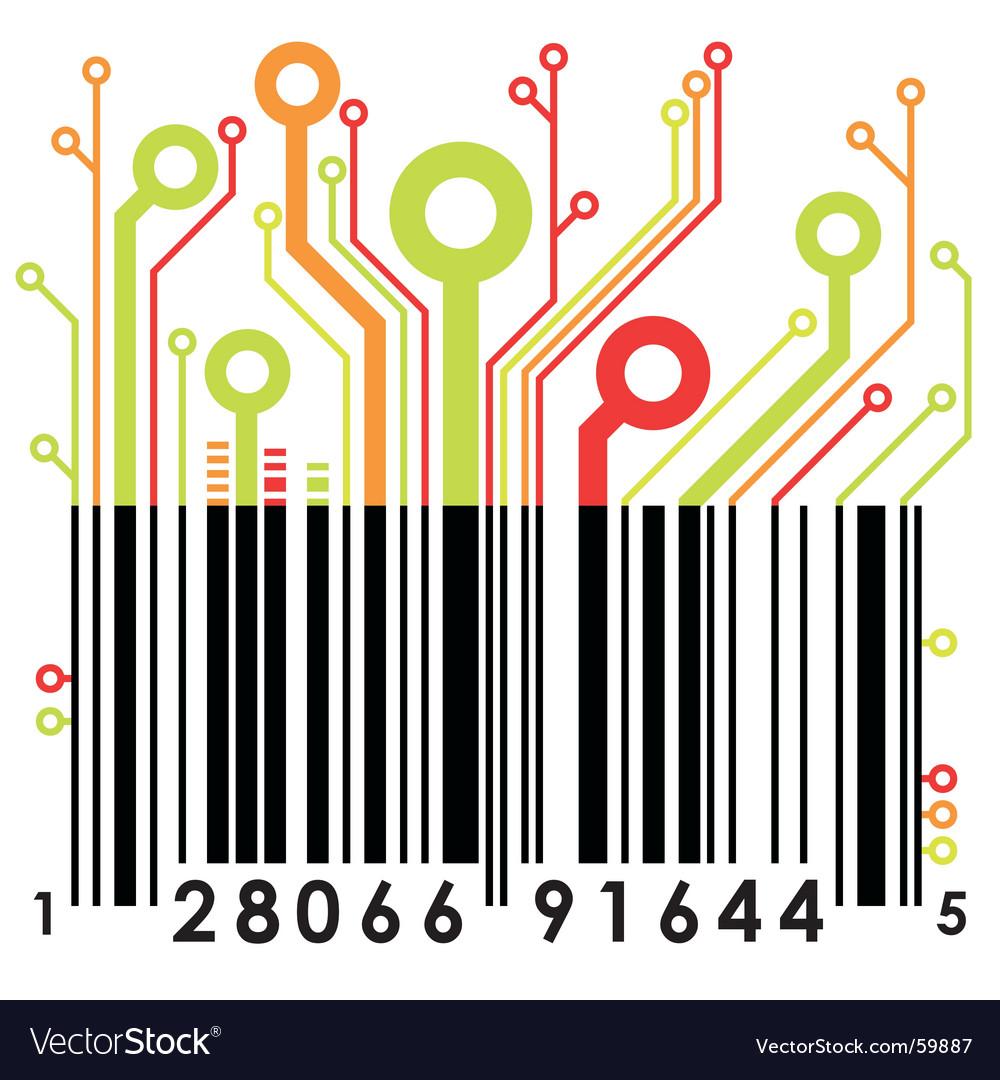 magazine barcode vector. Abstract Barcode Vector.
