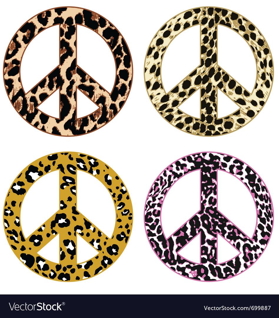 Animal print peace design vector image