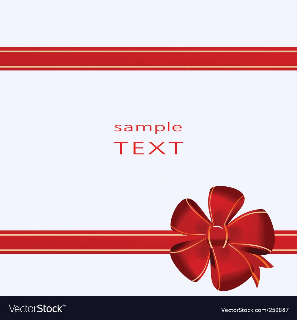Christmas Bow Royalty Free Vector Image Vectorstock