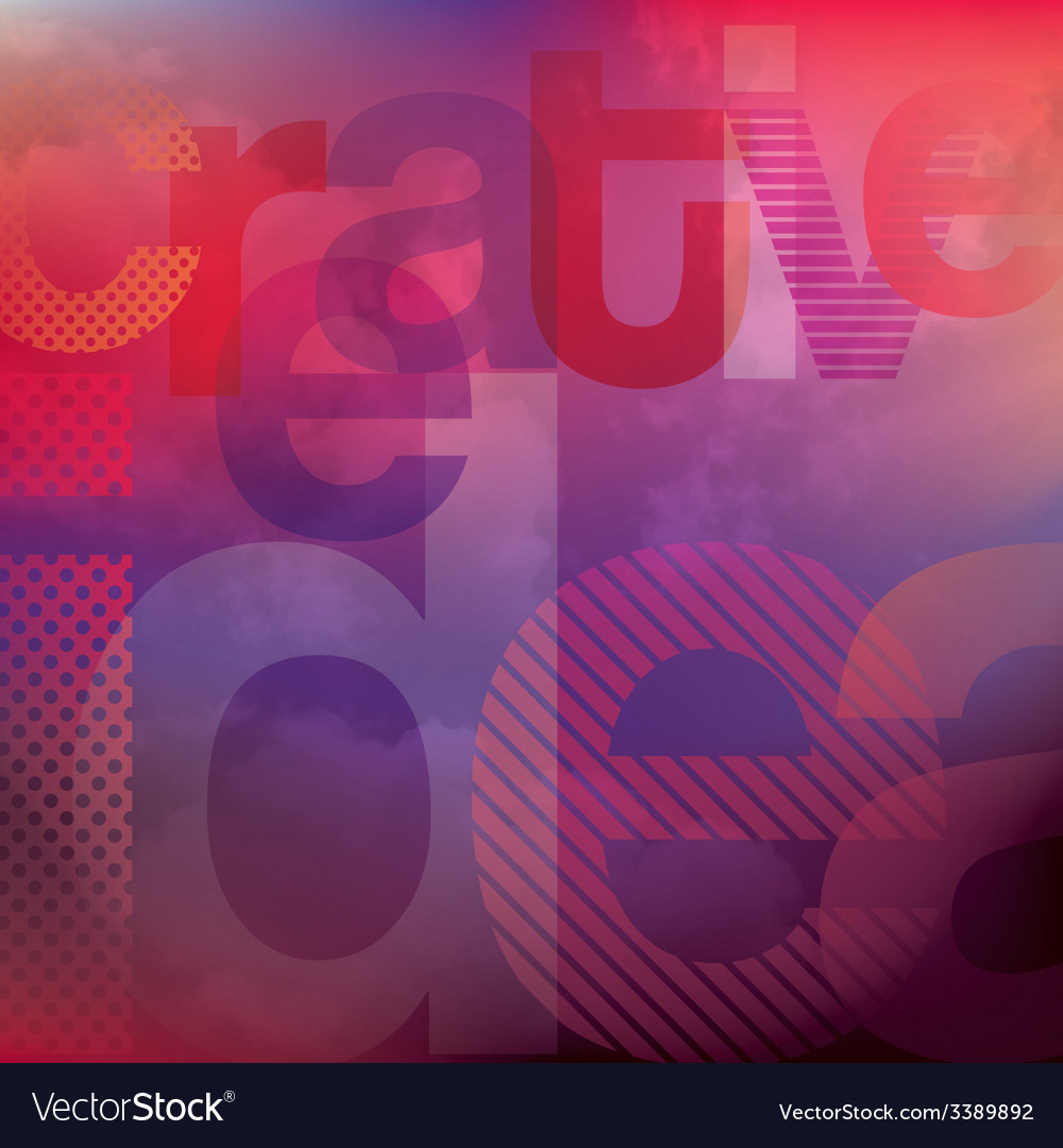 Abstract creative idea background vector image
