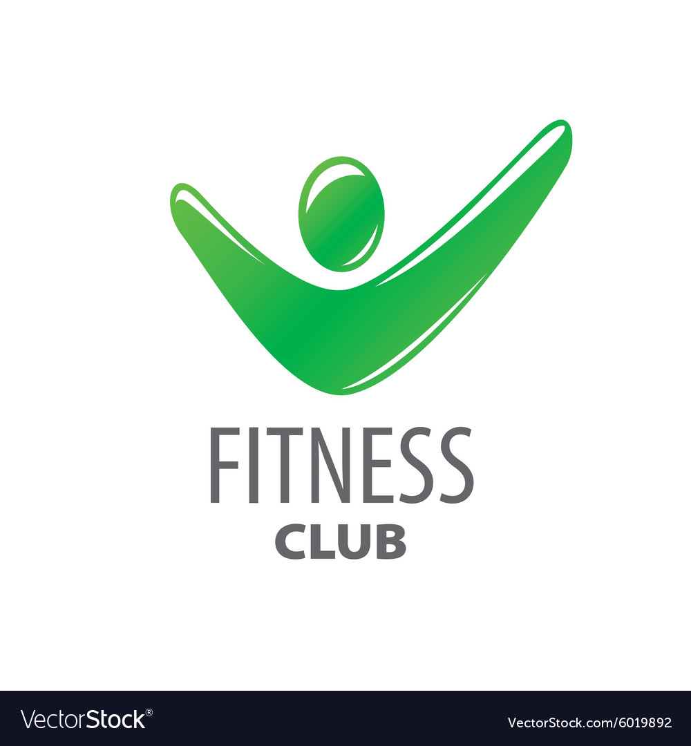 Abstract green logo for fitness center
