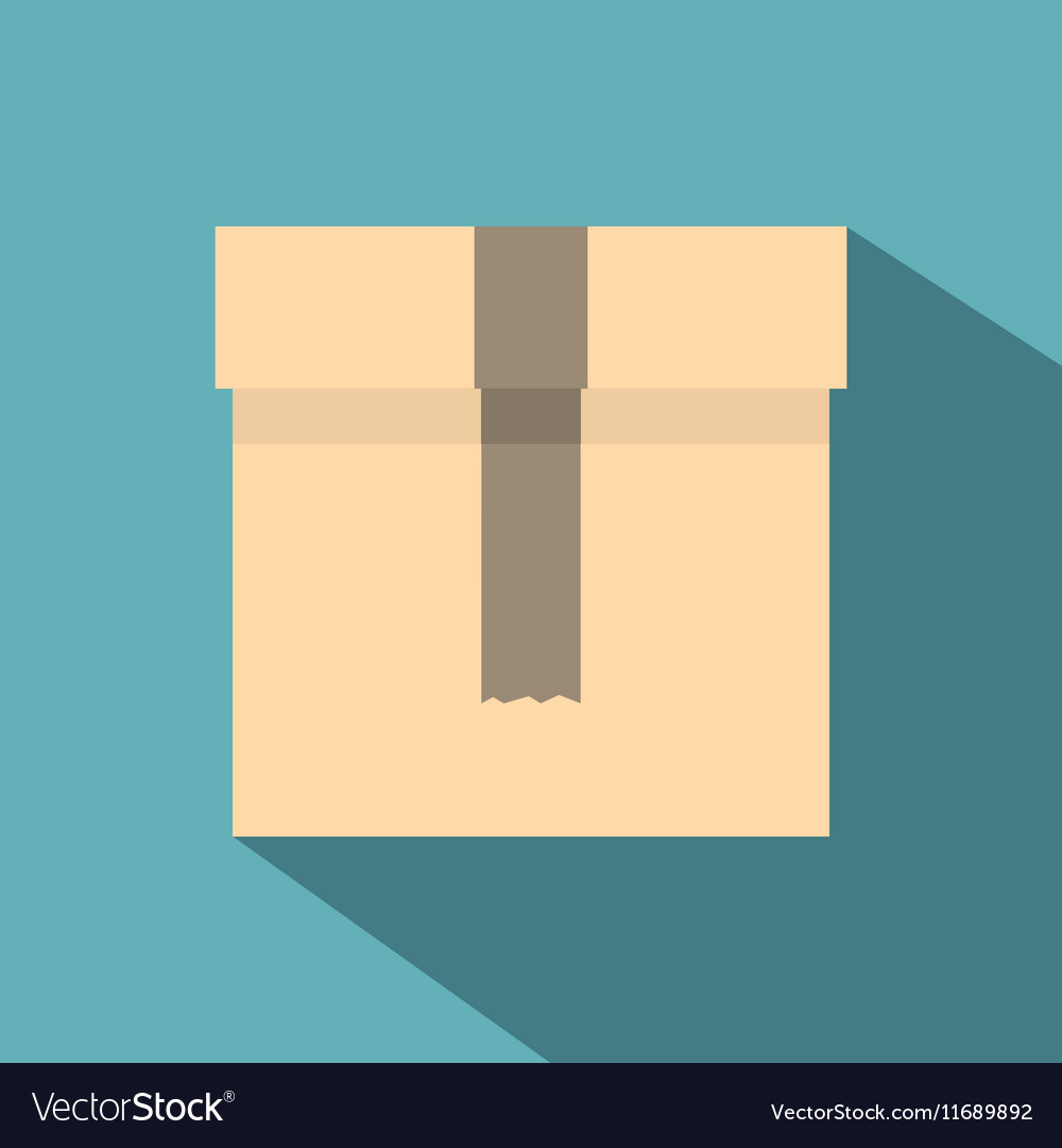 Box icon flat style vector image