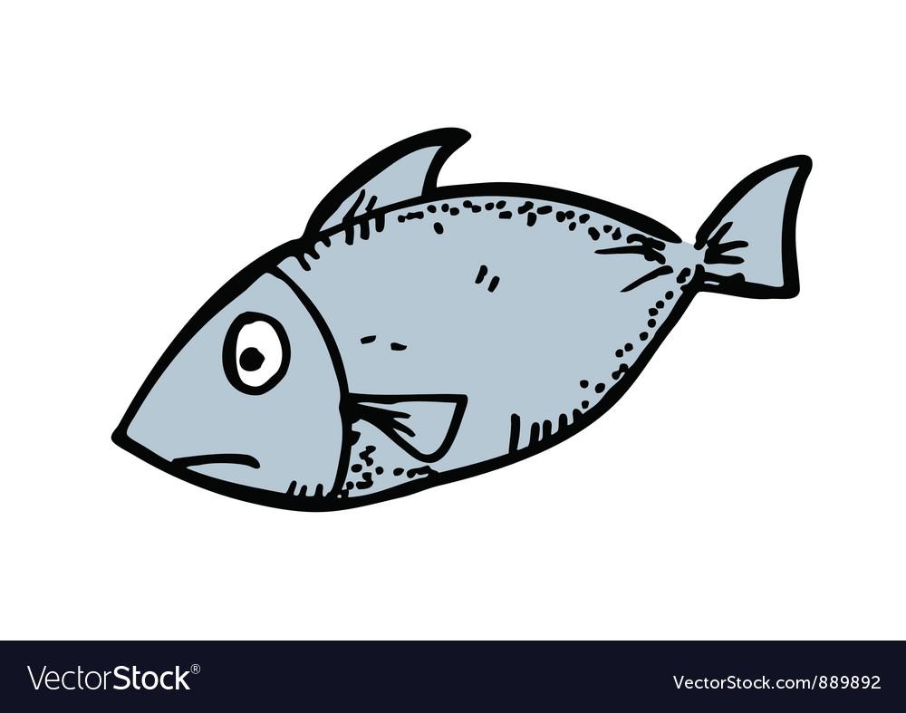 cartoon fish royalty free vector image vectorstock