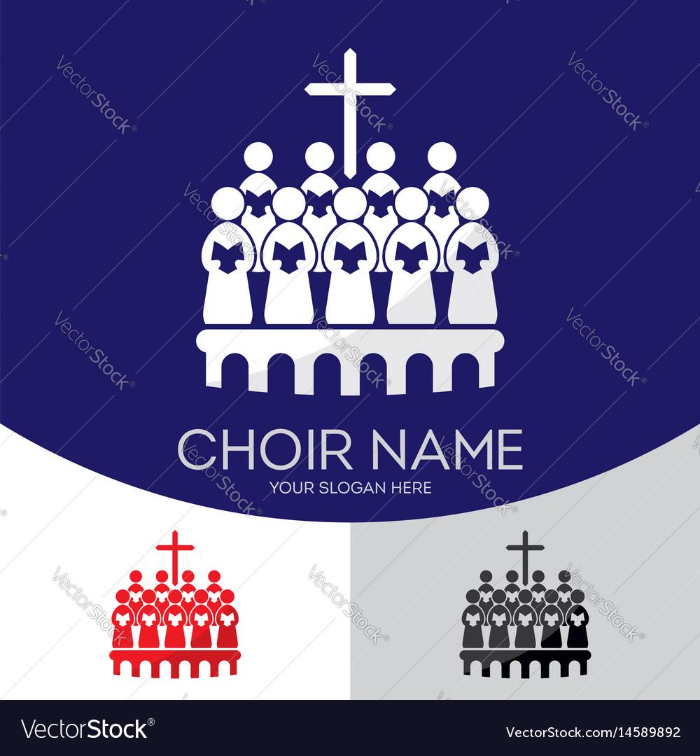 Choir christian church vector image