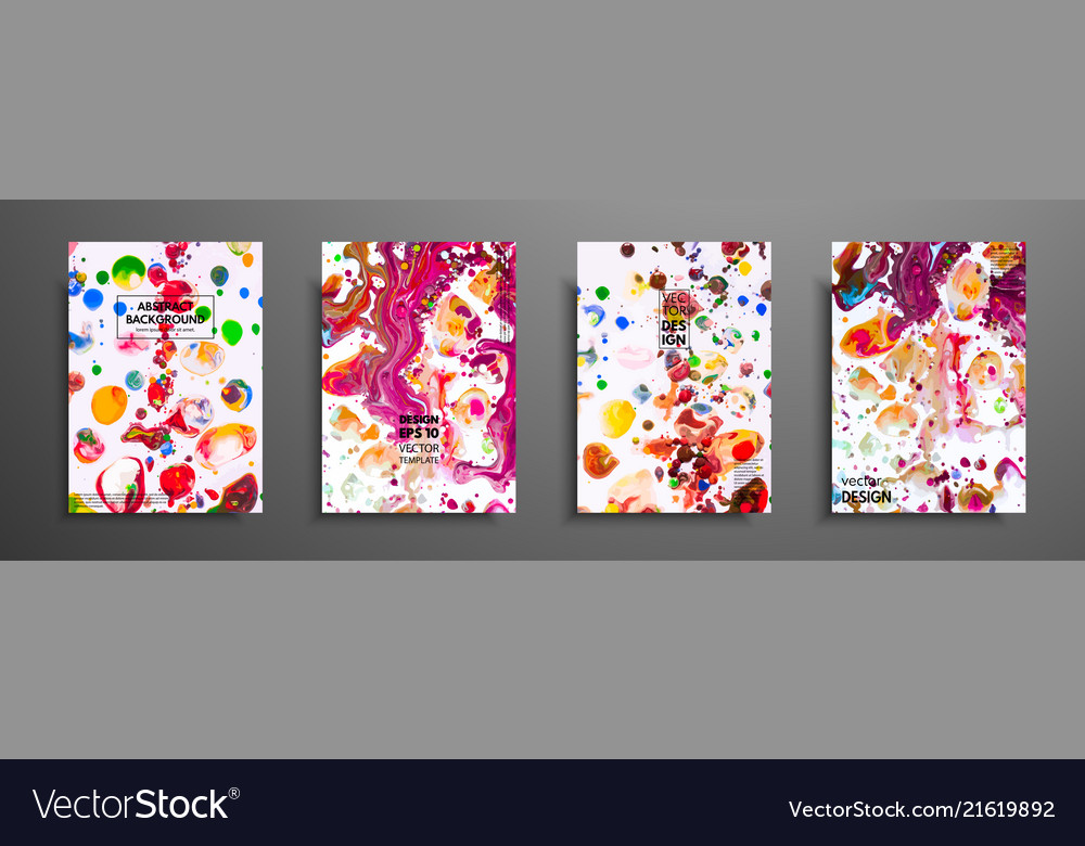 Hand drawn collection of card made by acrylic