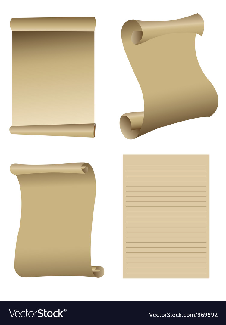 Old paper set vector image