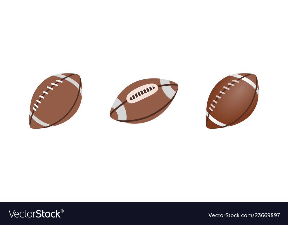American football ball isolated on a white