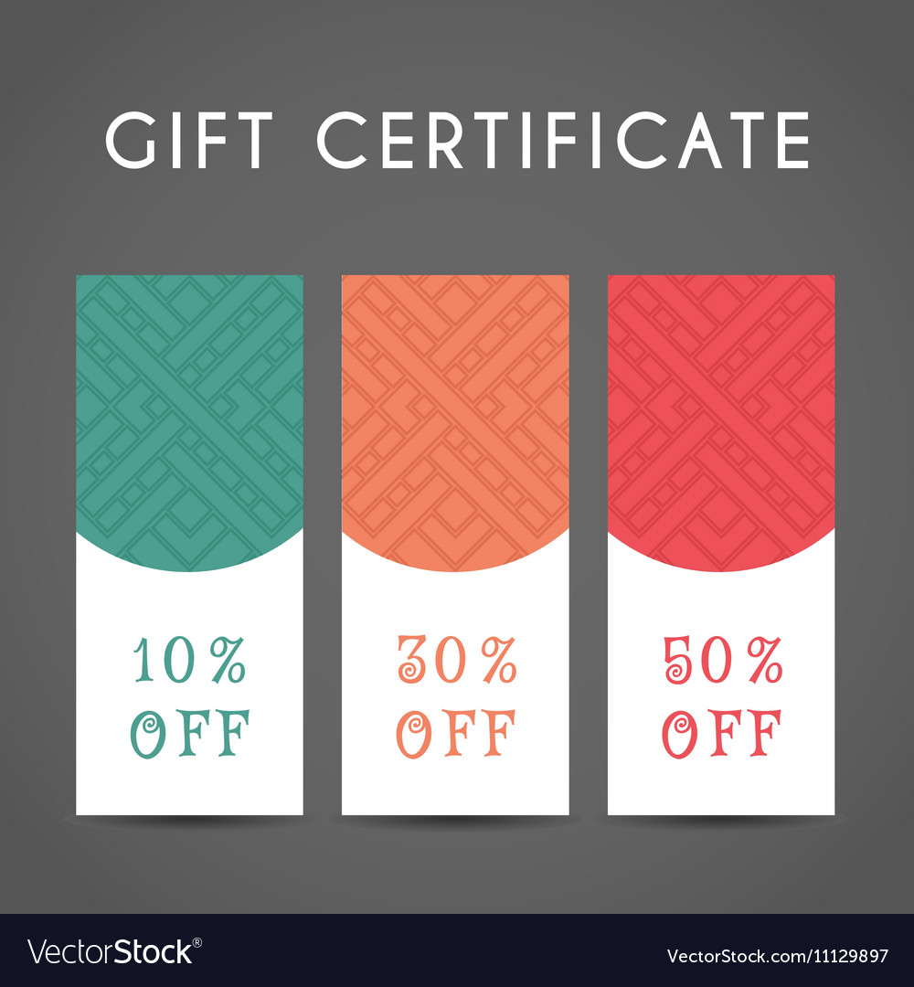 Arabic Coupon Template Vector Image