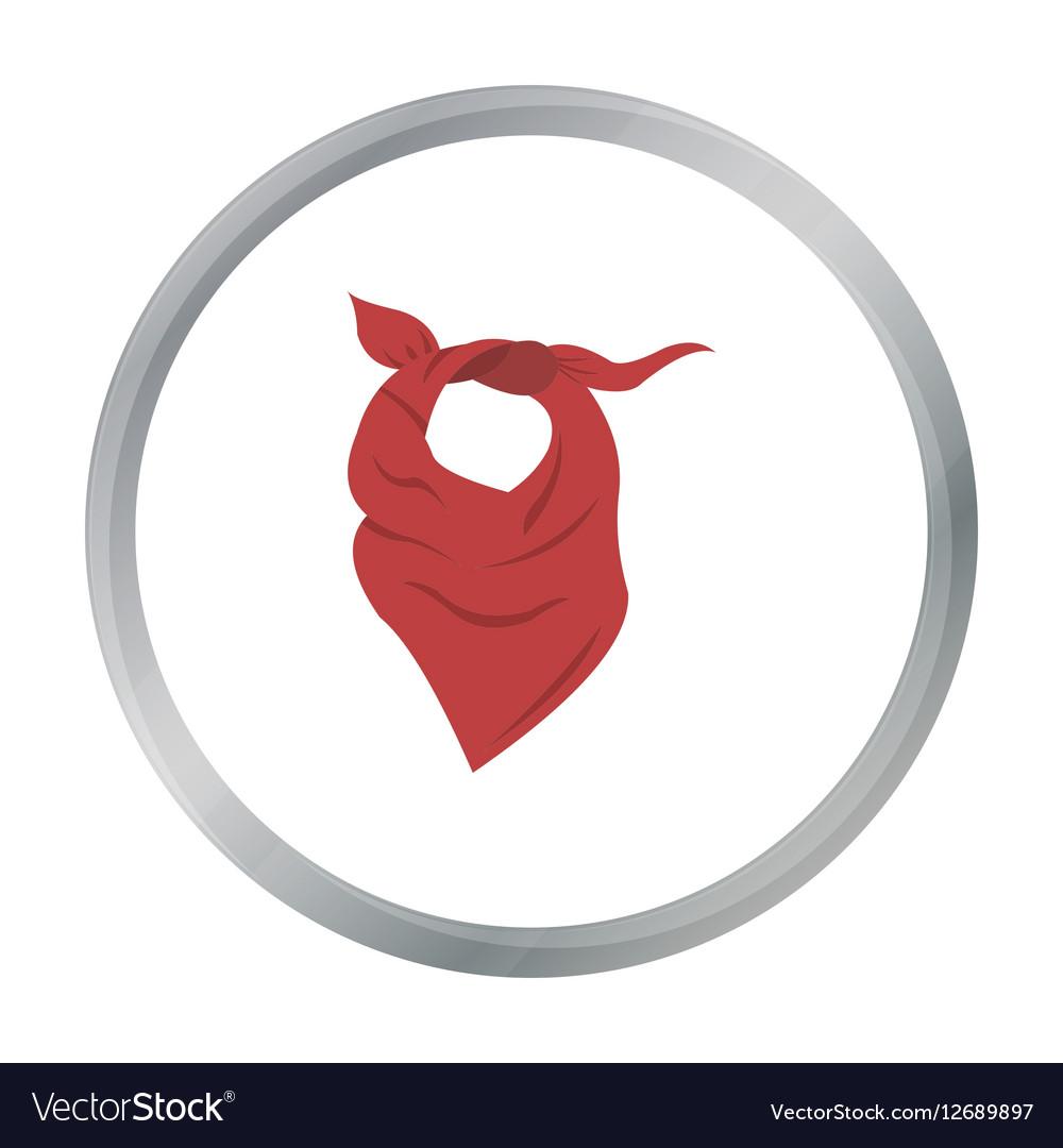 Cowboy scarf icon cartoon Singe western icon from vector image
