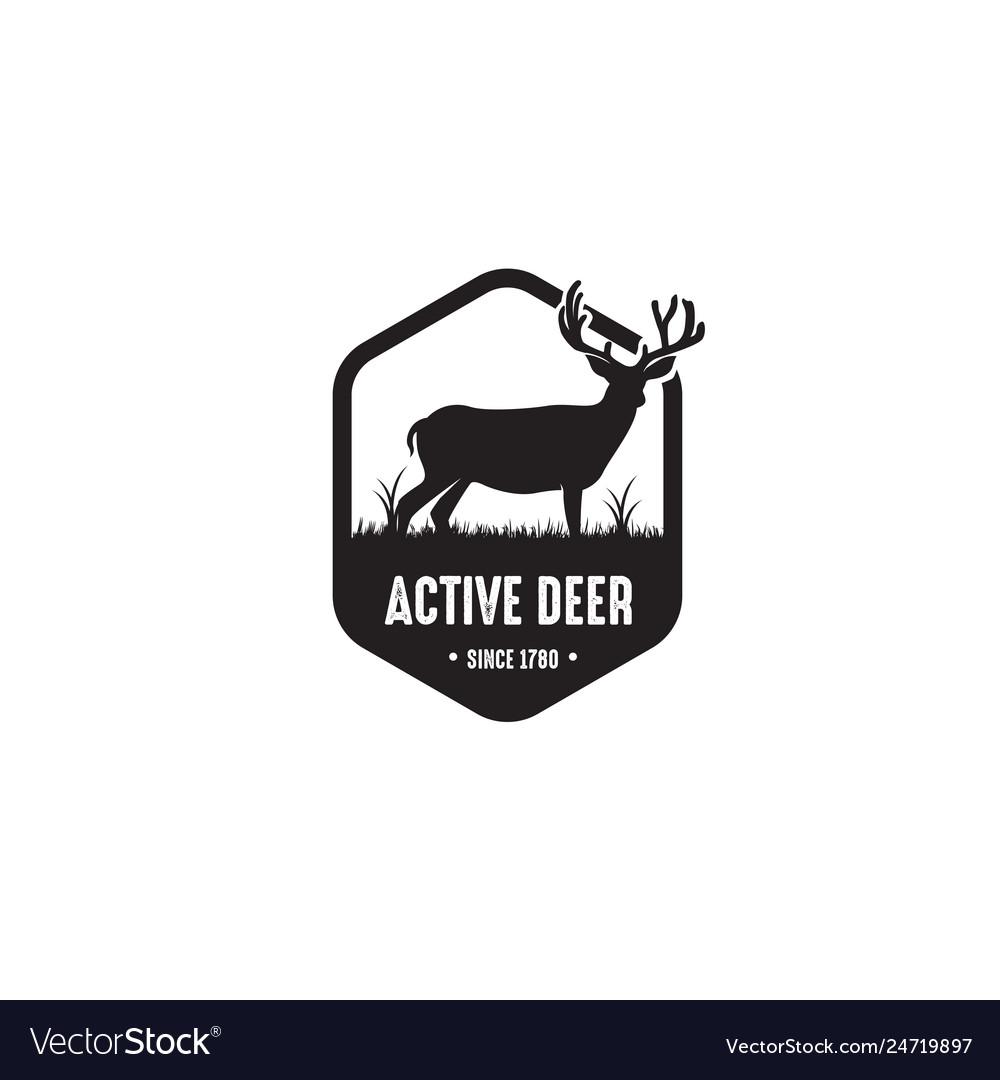Deer badge logo design