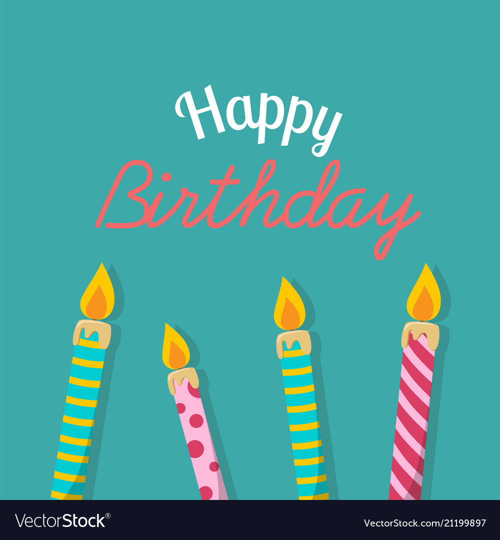 Happy Birthday Candles Background Vector Image
