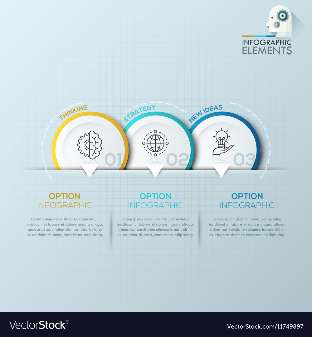 Modern business circle origami style options