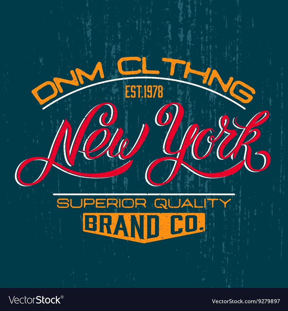 New York design print vector image