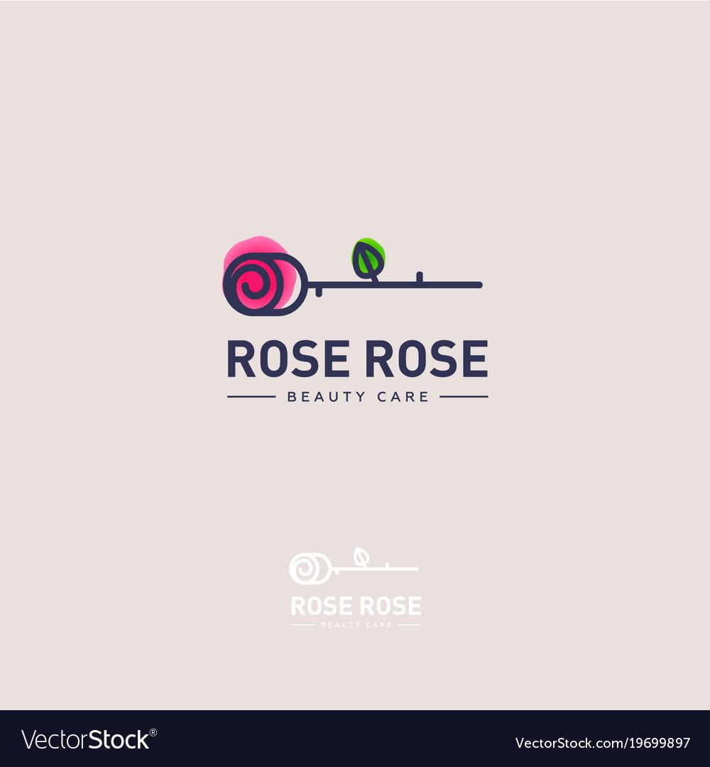 Rose Logo Rose Emblem Royalty Free Vector Image