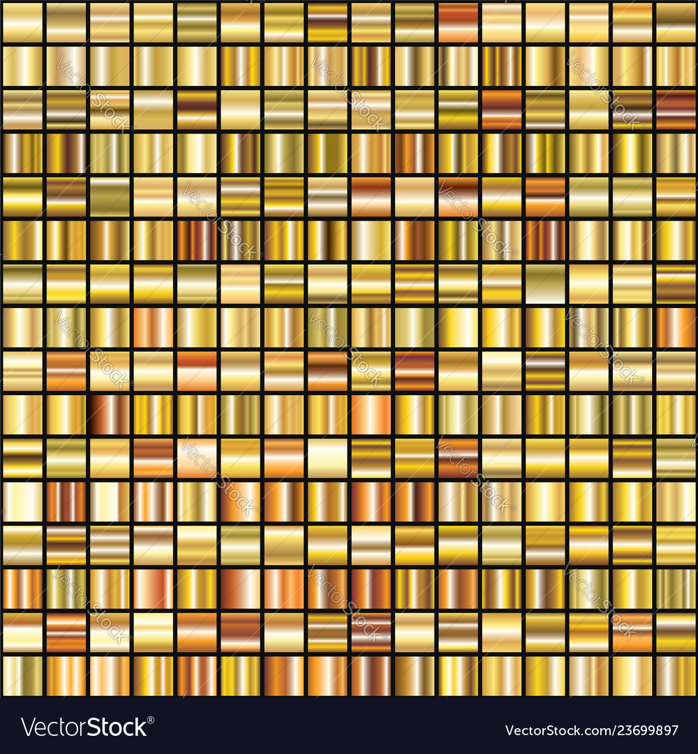 Set of shiny 256 abstract gold gradient
