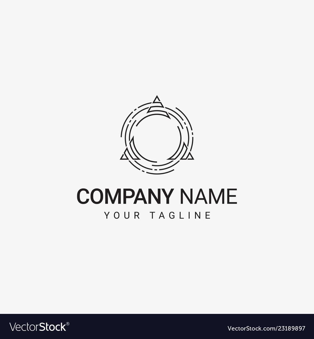 Triangle in circle logo