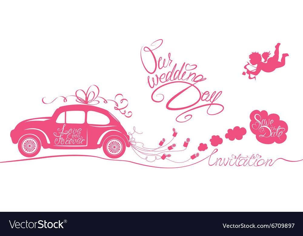 Wedding car invitation 380