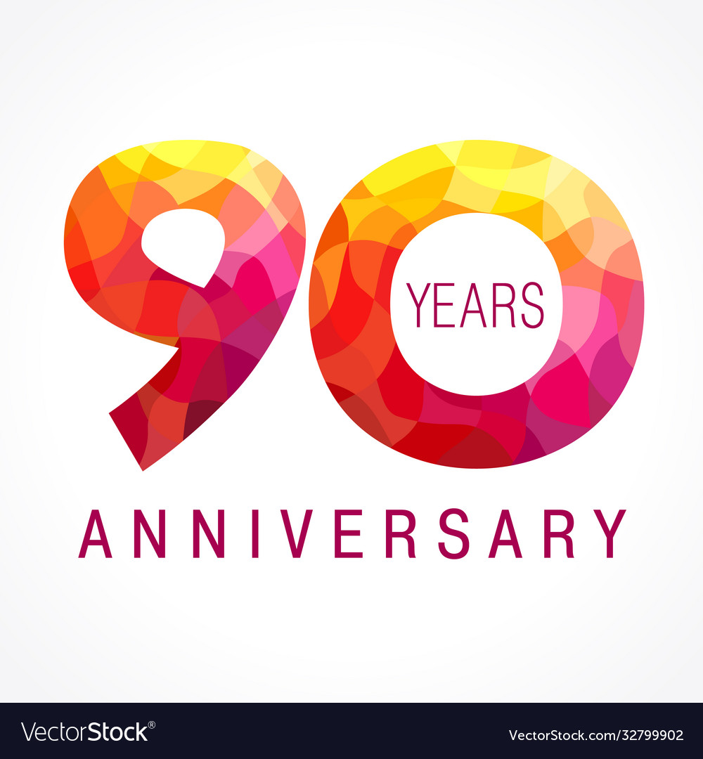 90 anniversary red logo