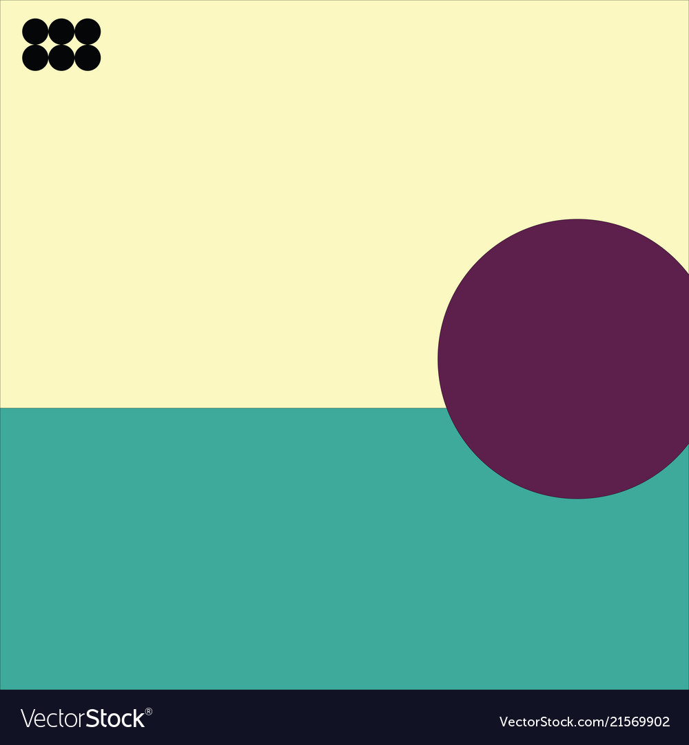 Abstract cover with minimal design