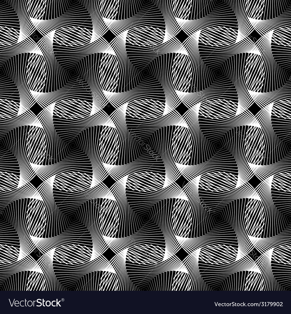 Design seamless monochrome grid decorative pattern