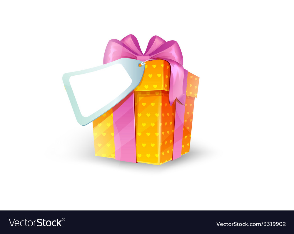 Gift box with bow vector image