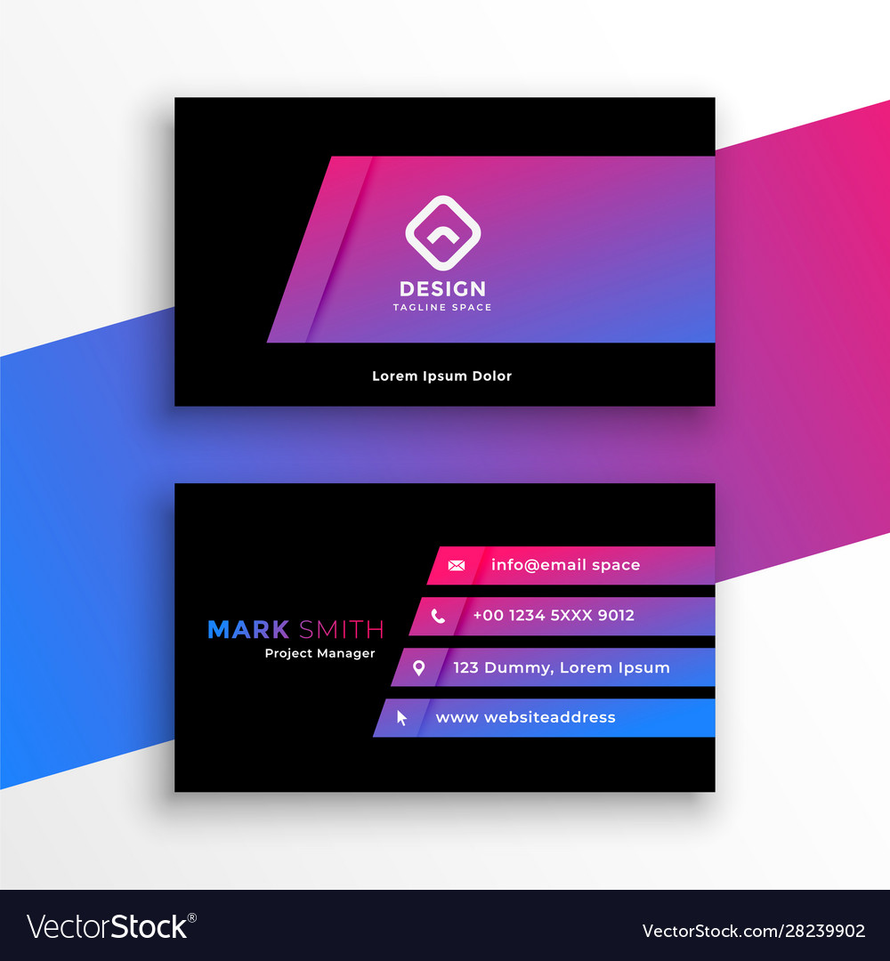 Stylish vibrant purple business card template