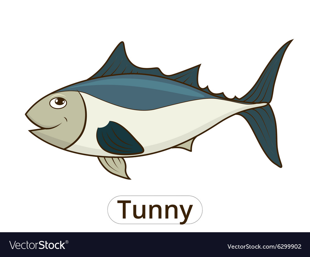 Tunny sea fish cartoon for children