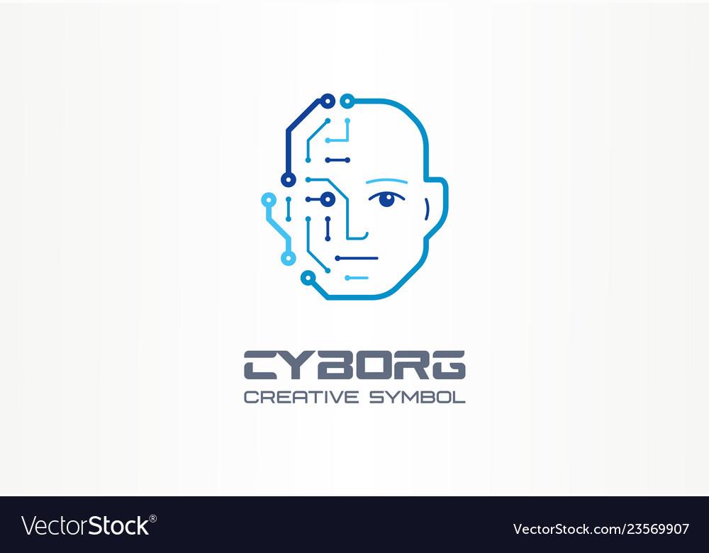 Ai robot technology creative symbol machine