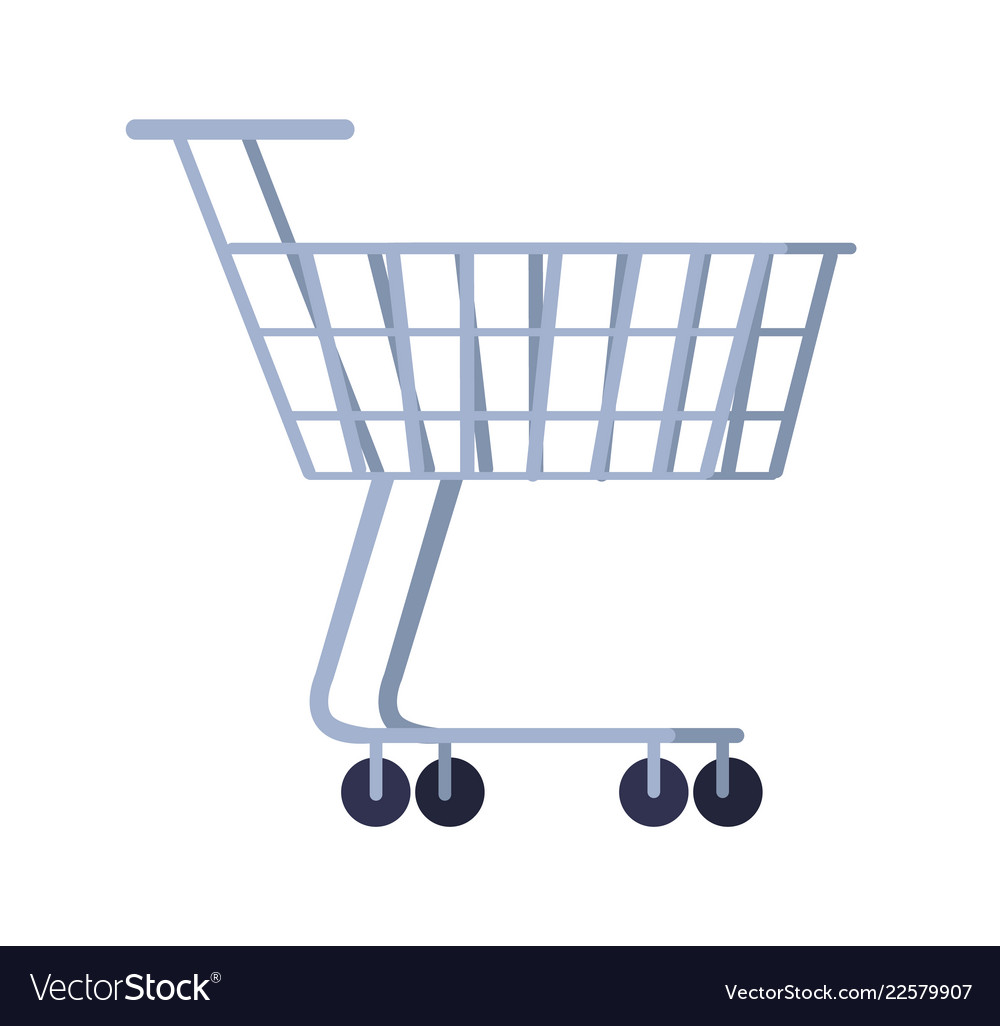 Cart for purchases isolated on white background