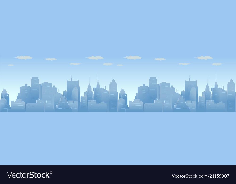 City skyline urban panorama