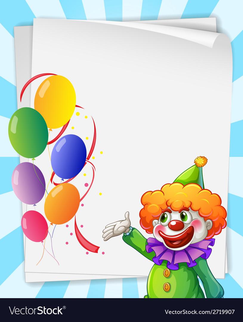 Clown Invitation Vector Image