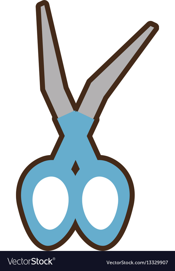 Scissors medical instrument icon vector image