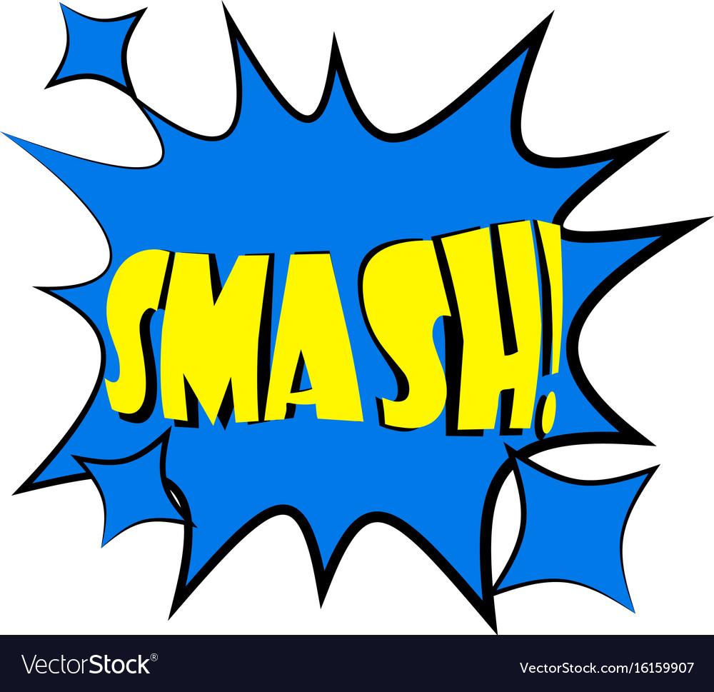 smash explosion speech bubble icon cartoon style vector image