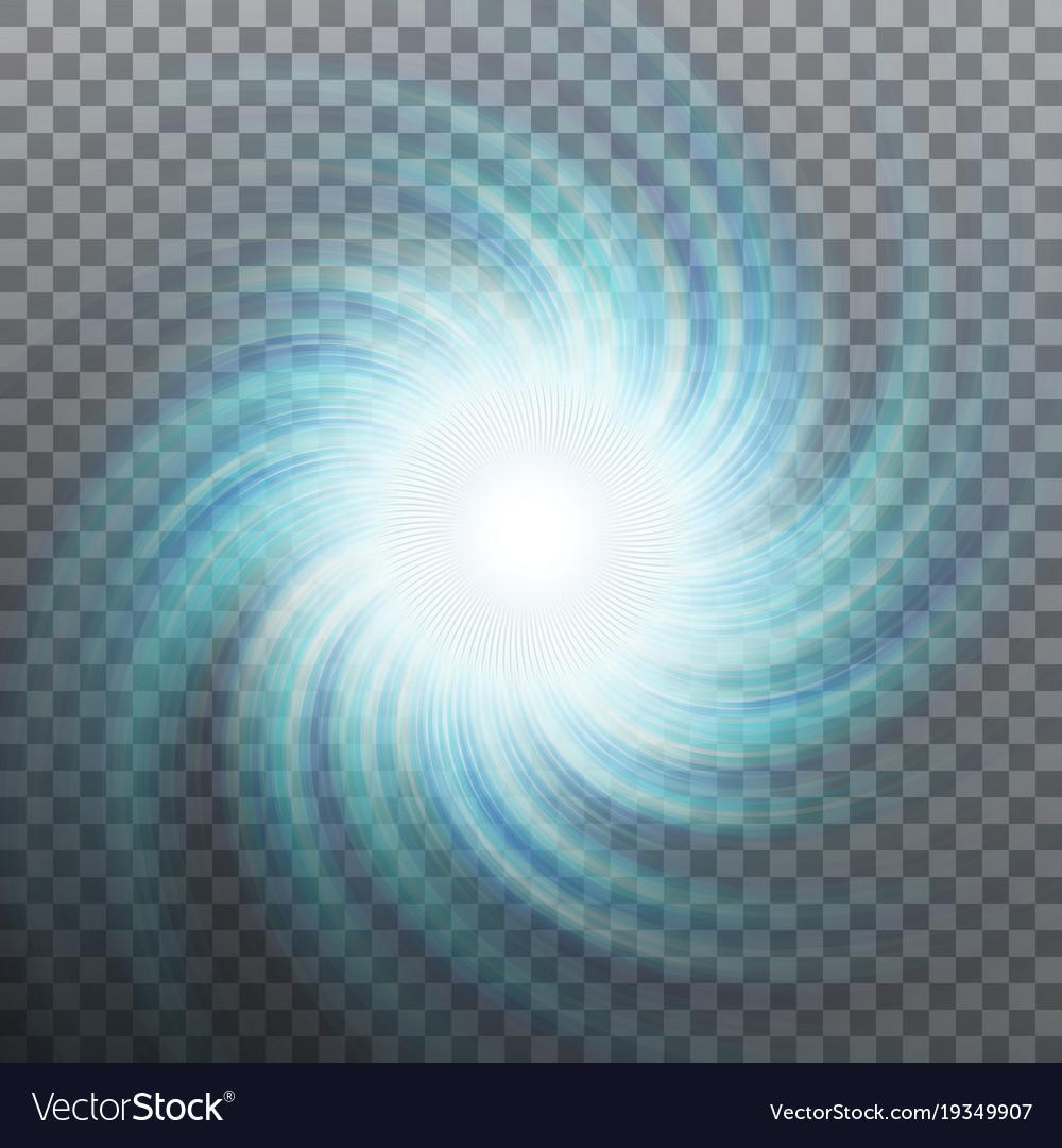 Spiraling blue vortex isolated eps 10