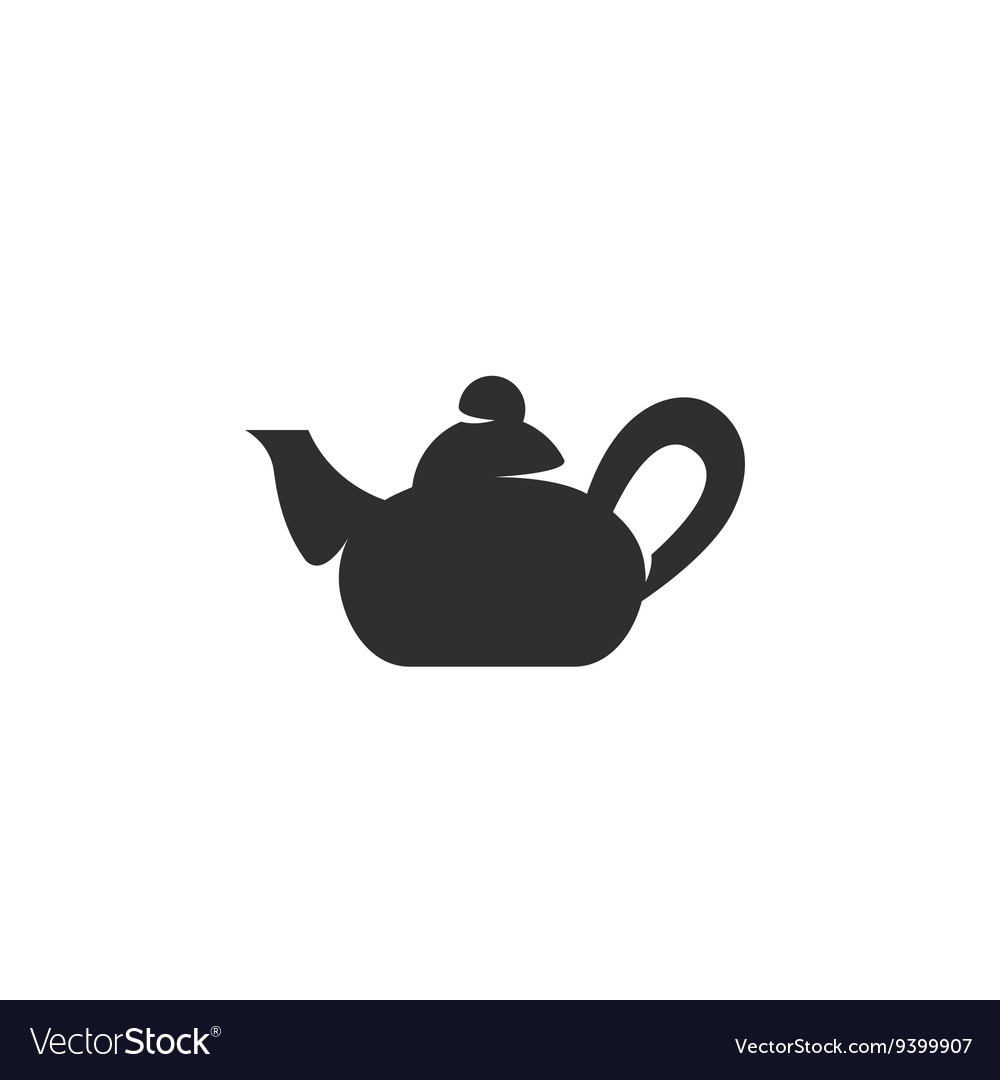 Teapot Icon on white background