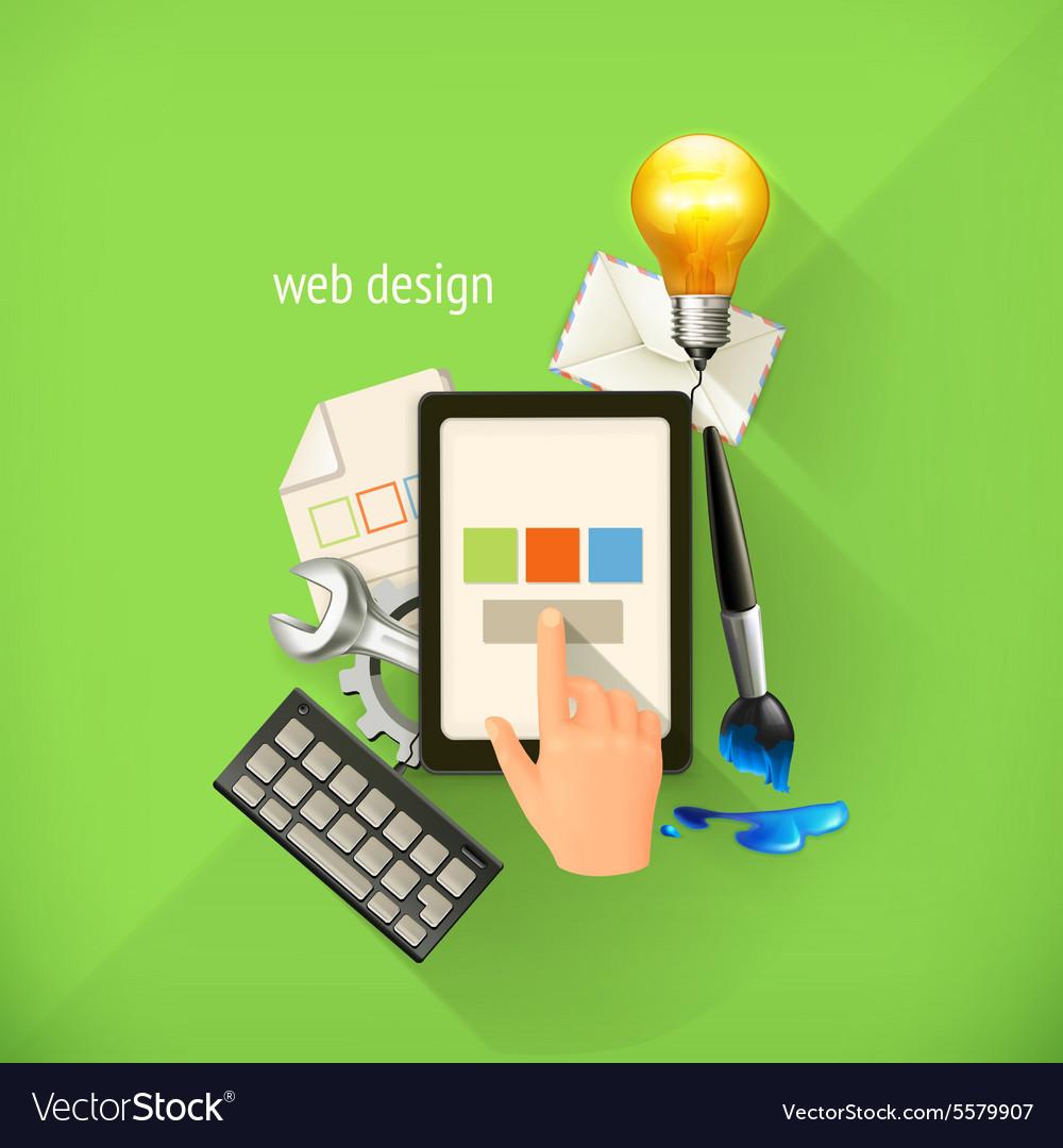 Web-design concept infographic technology