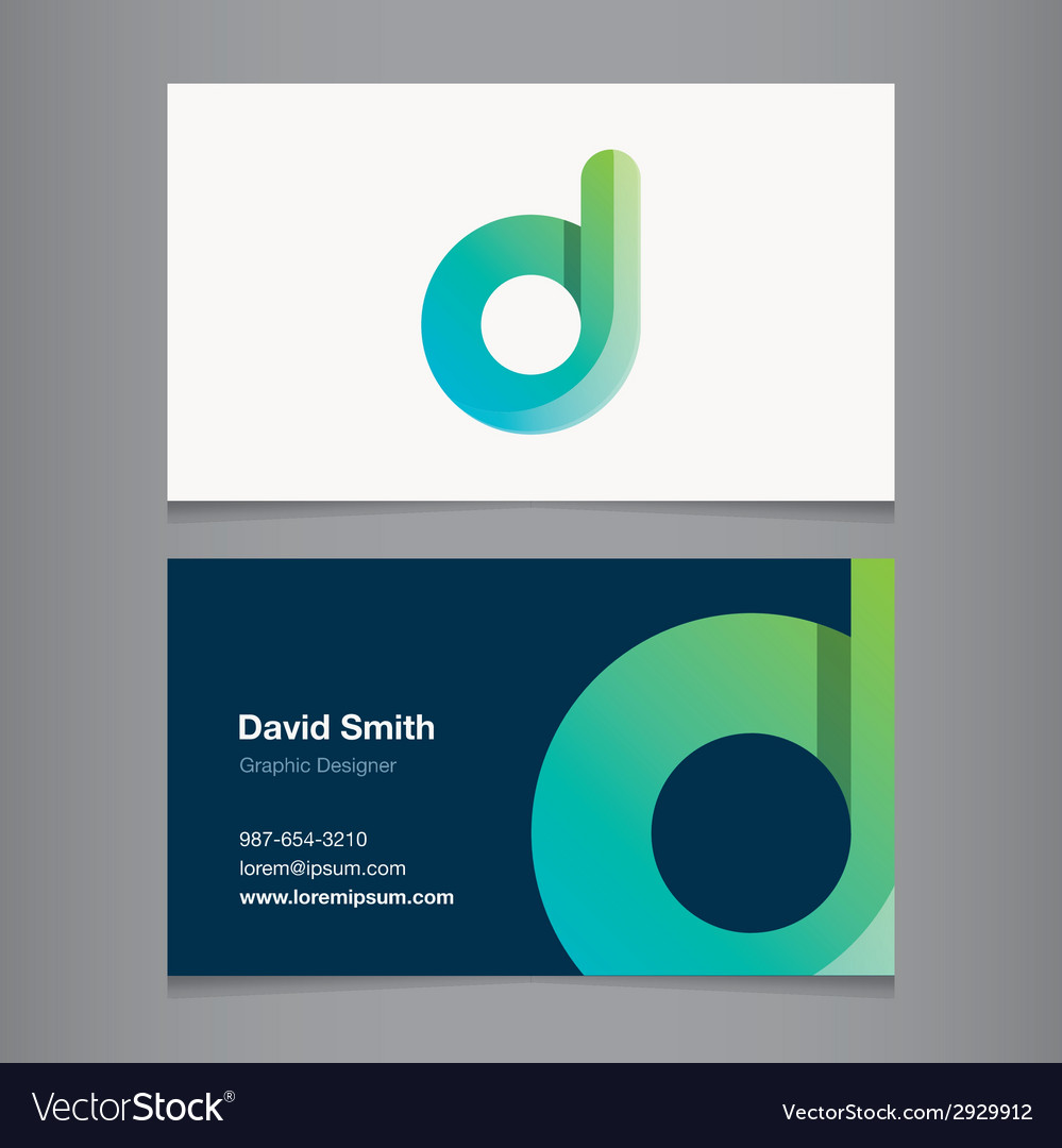 Business card letter d royalty free vector image business card letter d vector image colourmoves