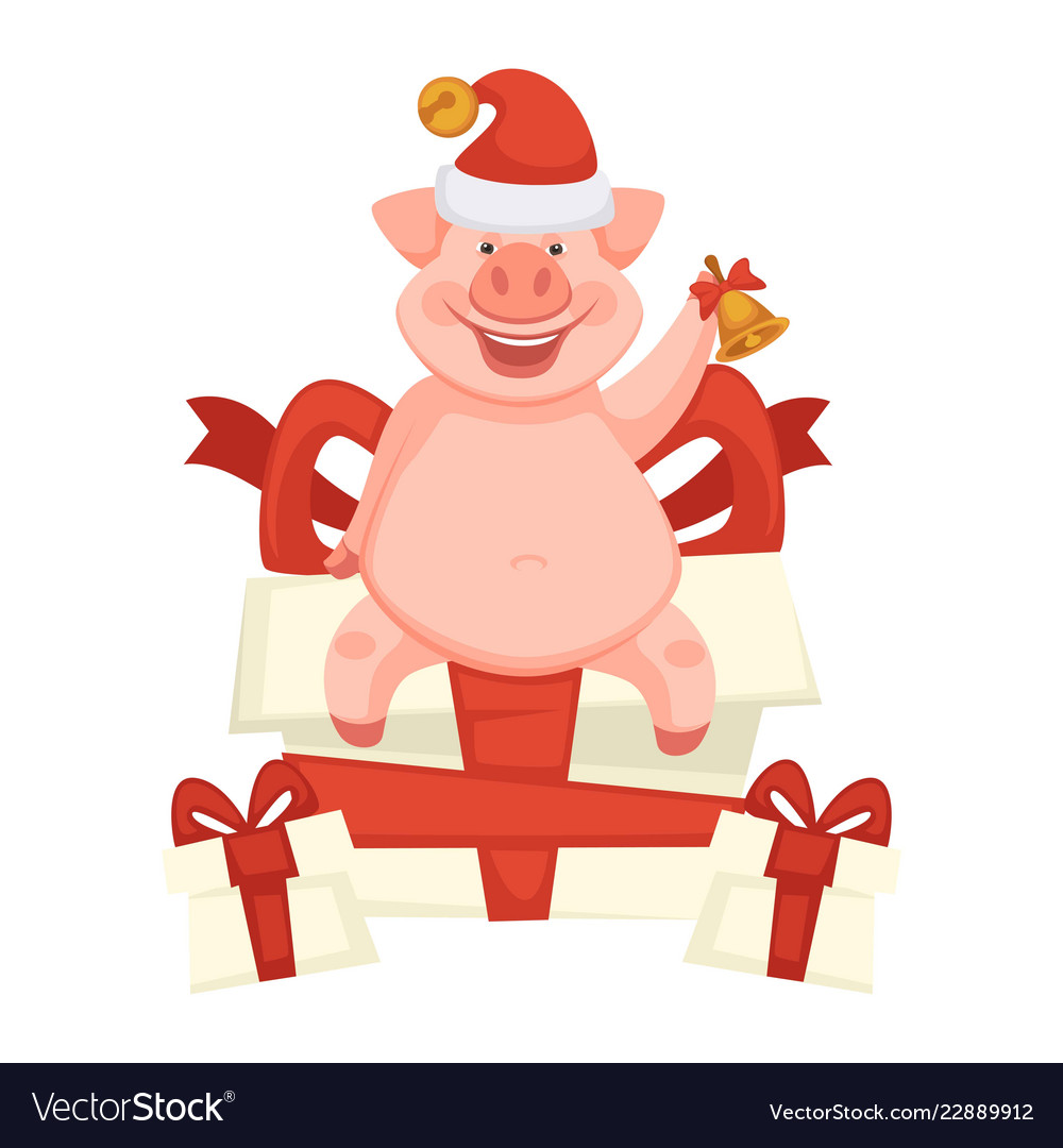 Celebration pig piglet symbol new year and