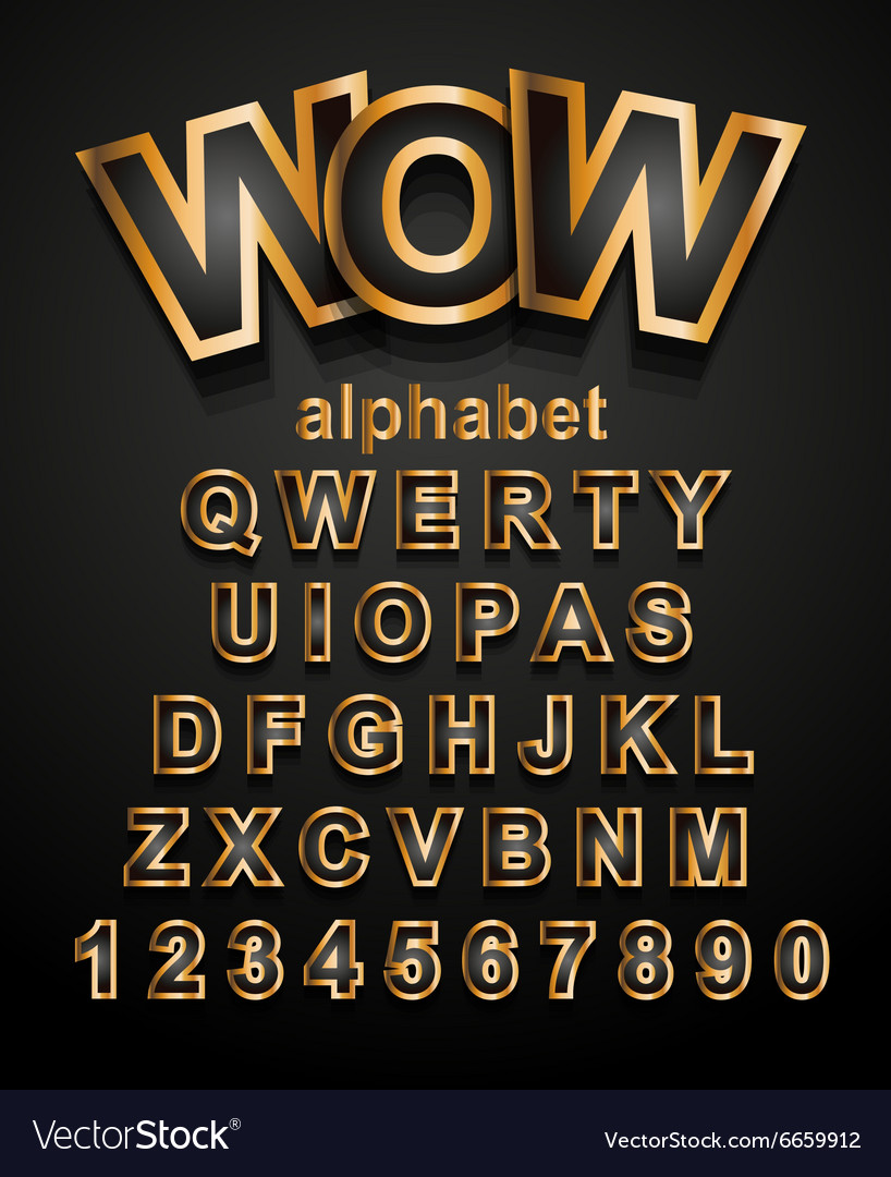 Christmas Golden Alphapet Font to use for