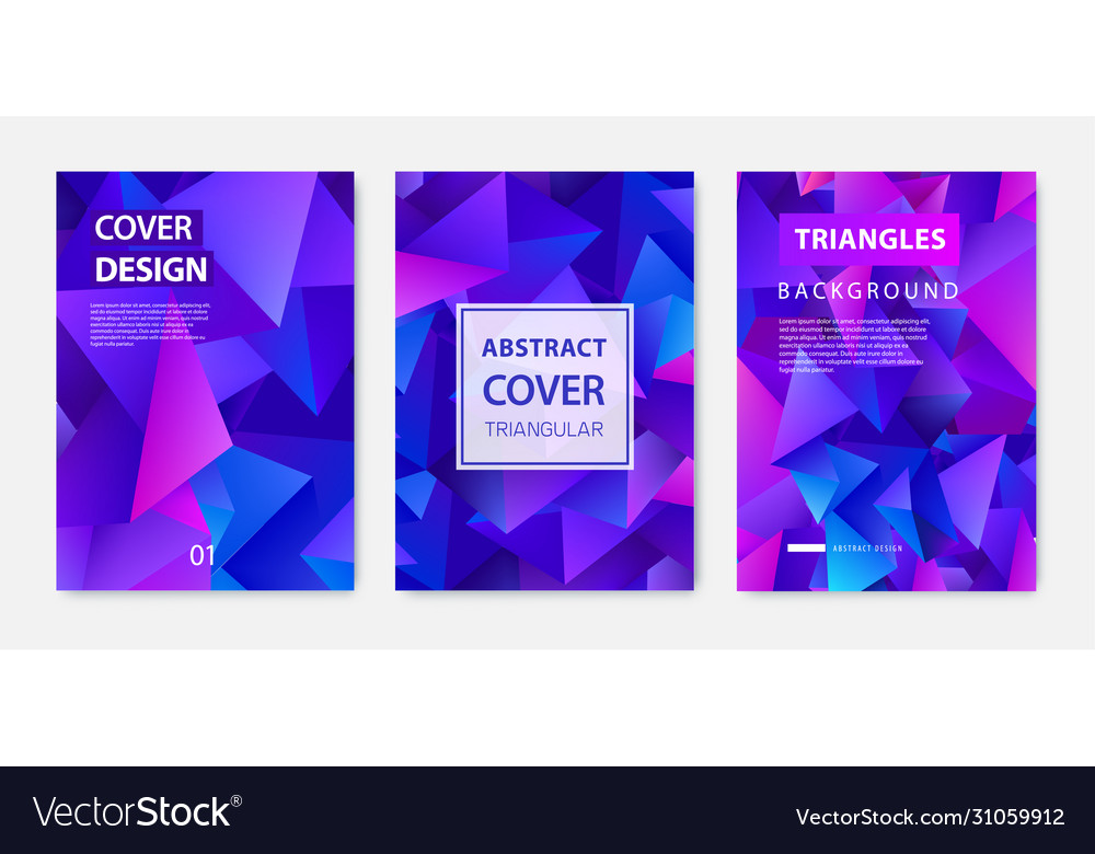 Covers templates set with graphic geometric