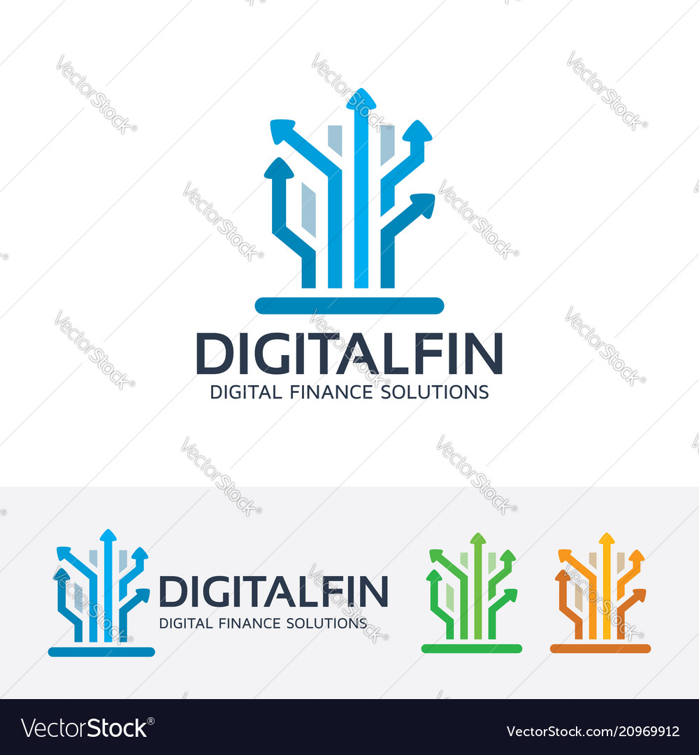 Digital finance logo design