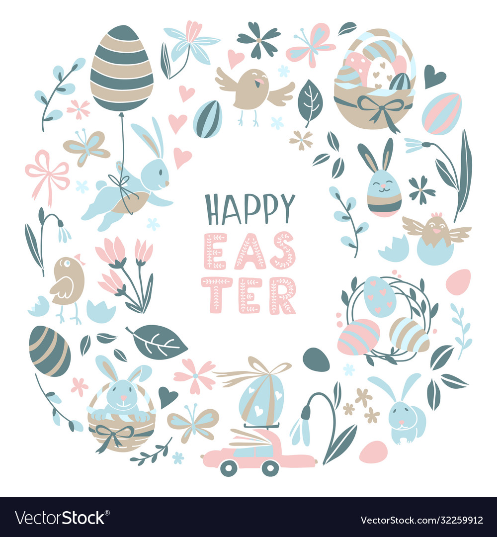 Funny happy easter eggs hunt greeting card