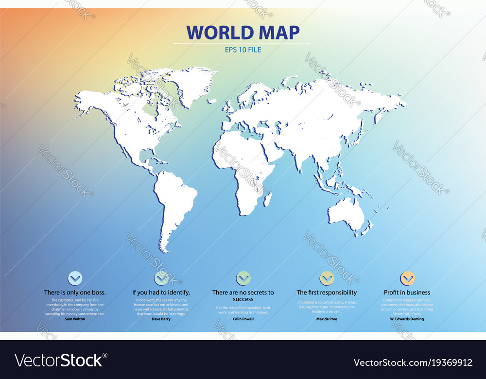 World map silhouette elements