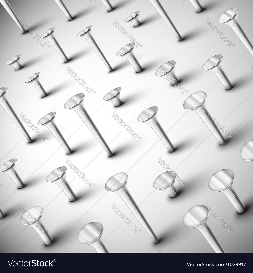 Background with nails vector image