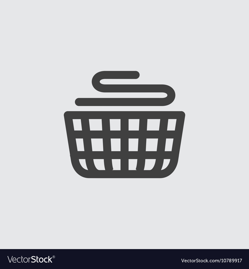 Basket laundry icon
