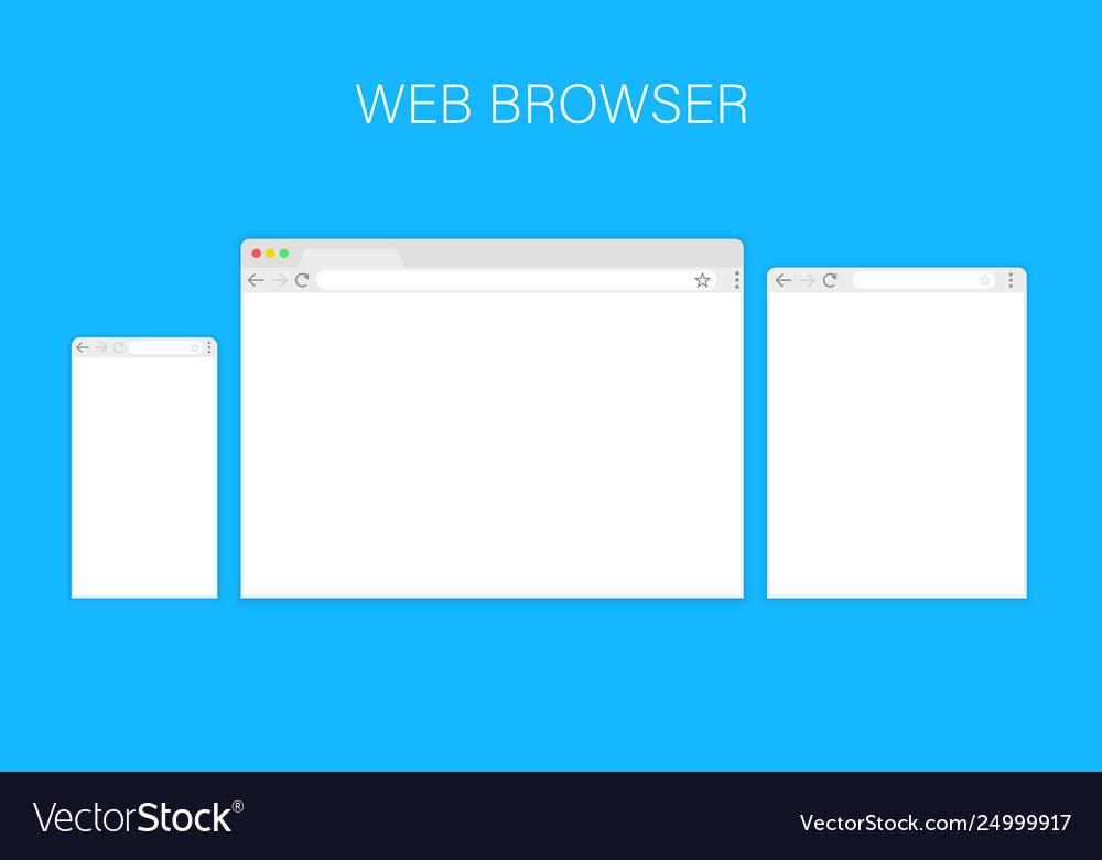 Browser windowweb browser in flat style window