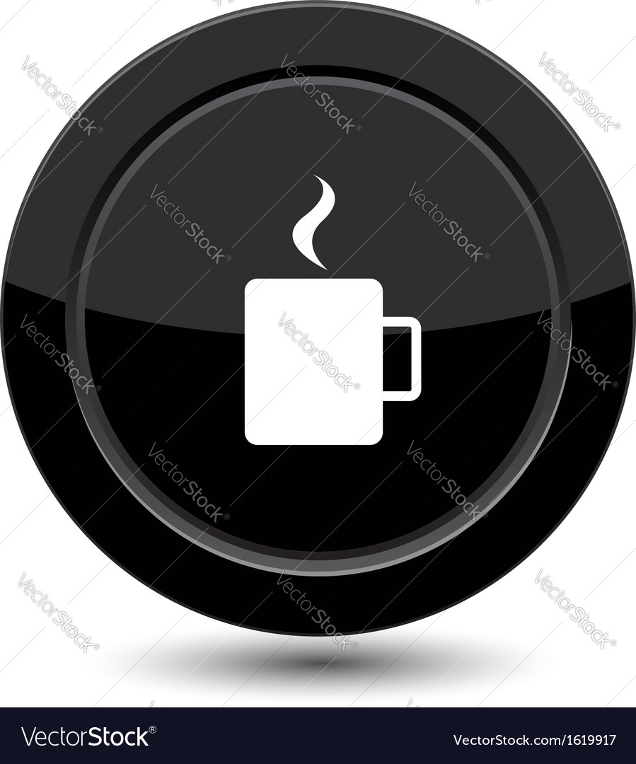Button with cup of coffee