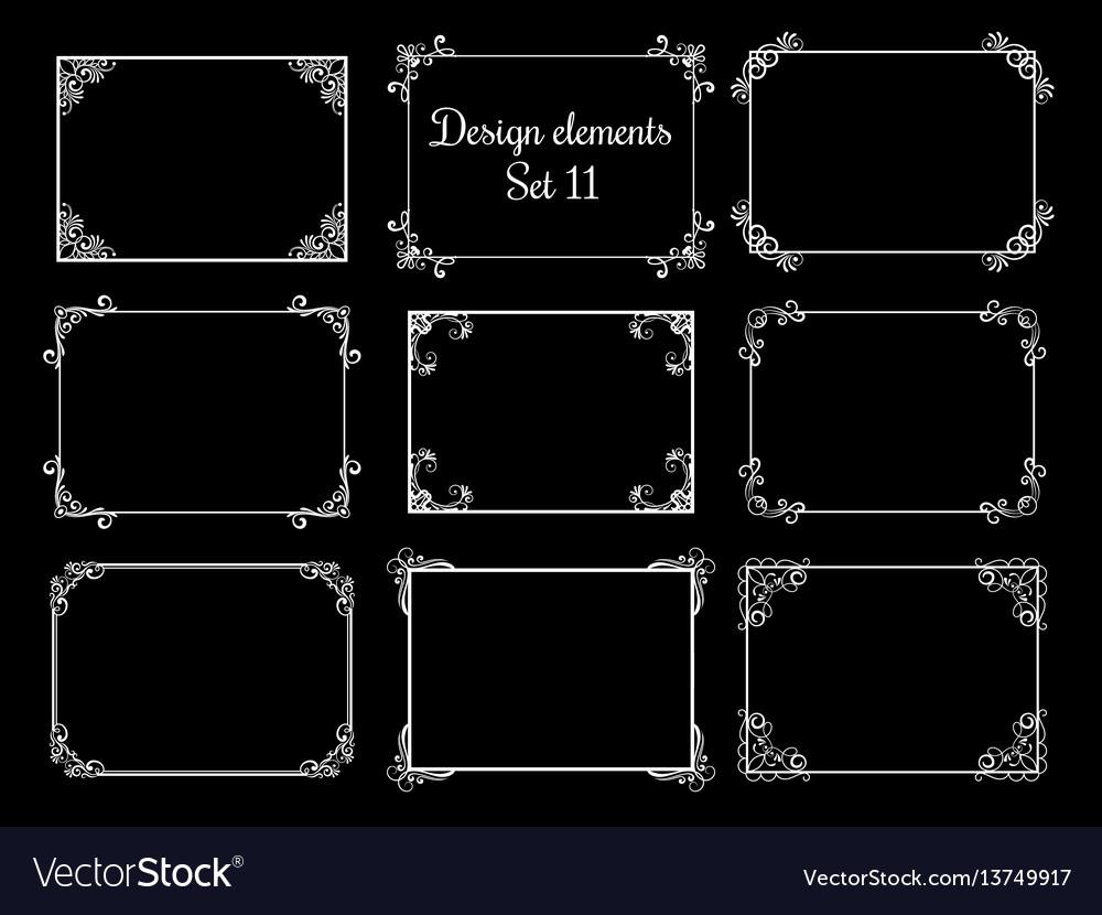 Decorative ornamental frames vintage