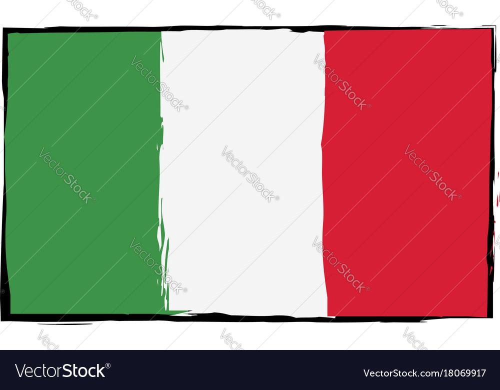 Grunge italy flag or banner